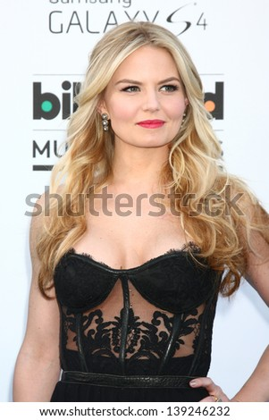 LOS ANGELES -  MAY 19:  Jennifer Morrison arrives at the Billboard Music Awards 2013 at the MGM Grand Garden Arena on May 19, 2013 in Las Vegas, NV - stock photo