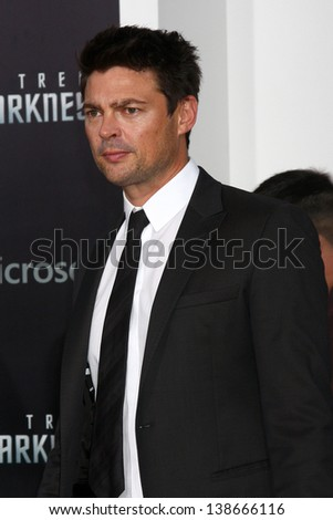 "LOS ANGELES - MAY 14:  Karl Urban arrives at the ""Star Trek Into Darkness"" Los Angeles Premiere at the Dolby Theater on May 14, 2013 in Los Angeles, CA"
