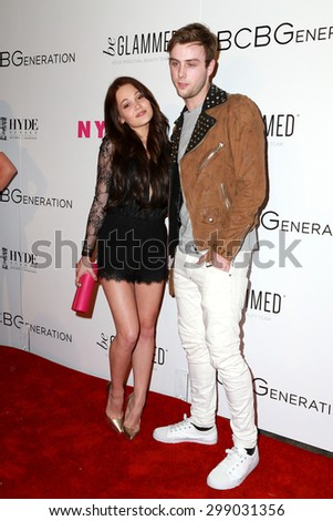 LOS ANGELES - MAY 7:  Kelli Berglund, Sterling Beaumon at the NYLON Magazine Young Hollywood Issue Party  at the HYDE Sunset on May 7, 2015 in West Hollywood, CA - stock photo