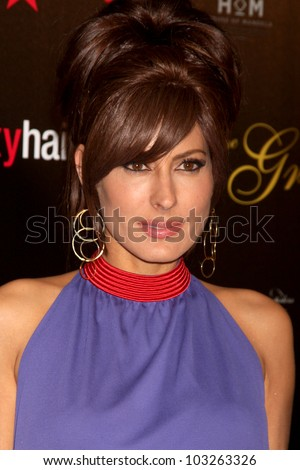 LOS ANGELES - MAY 22:  Kerri Kasem arrives at the 37th Annual Gracie Awards Gala at Beverly Hilton Hotel on May 22, 2012 in Beverly Hllls, CA - stock photo