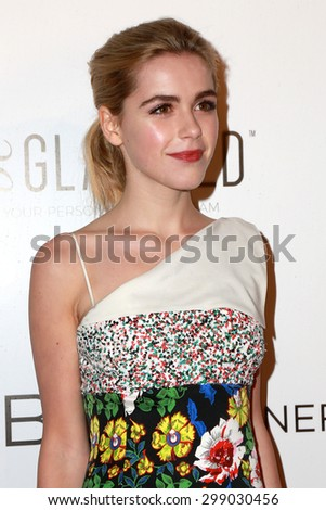 LOS ANGELES - MAY 7:  Kiernan Shipka at the NYLON Magazine Young Hollywood Issue Party  at the HYDE Sunset on May 7, 2015 in West Hollywood, CA - stock photo