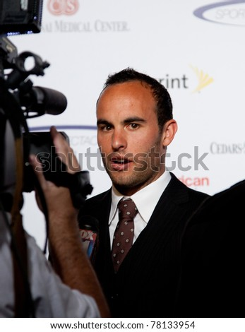 LOS ANGELES - MAY 22: Landon Donovan arrives at 2011 Cedars Sinai Sports Spectacular Los Angeles, CA on May 12, 2011. - stock photo