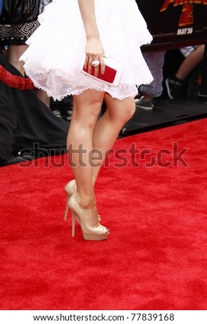 LOS ANGELES - MAY 22:  Lucy Liu at the premiere of Kung Fu Panda 2 at the Grauman's Chinese Theater in Los Angeles, California on May 22, 2011. - stock photo