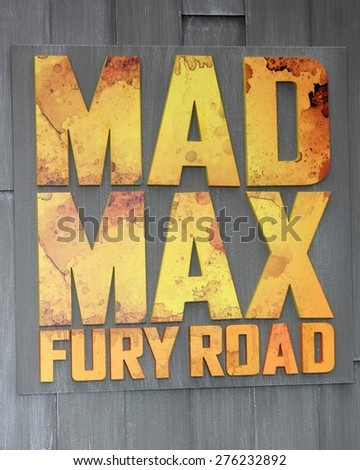 LOS ANGELES - MAY 7:  Mad Max Atmosphere at the Mad Max: Fury Road Los Angeles Premiere at the TCL Chinese Theater IMAX on May 7, 2015 in Los Angeles, CA - stock photo