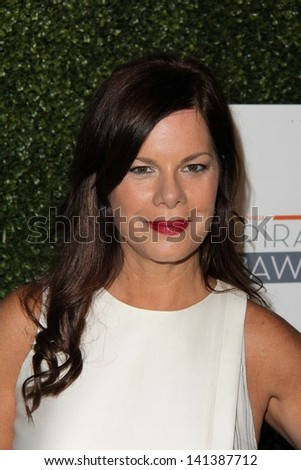 LOS ANGELES - MAY 31:  Marcia Gay Harden arrives at the 10th Annual Inspiration Awards Luncheon at the Beverly Hilton Hotel on May 31, 2013 in Beverly Hills, CA - stock photo