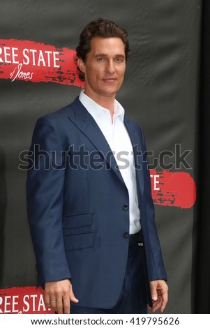 LOS ANGELES - MAY 11:  Matthew McConaughey at the Free State Of Jones Photocall at the Four Seasons Hotel Los Angeles at Beverly Hills on May 11, 2016 in Los Angeles, CA - stock photo