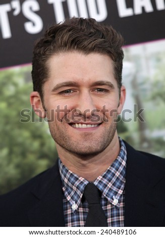 """LOS ANGELES - MAY 14:  MATTHEW MORRISON arrives to the """"""""What To Expect When You're Expecting"""" Los Angeles Premiere  on May 14, 2012 in Hollywood, CA                 - stock photo"""