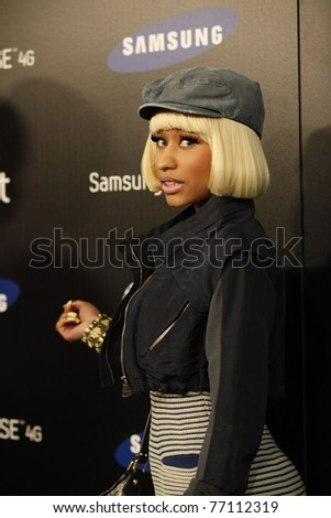 LOS ANGELES - MAY 12:  Nicki Minaj at the launch party of the SAMSUNG INFUSE 4G at Milk Studios in Los Angeles, California on May 12, 2011. - stock photo