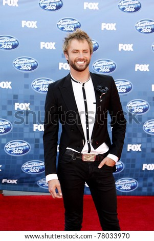 LOS ANGELES - MAY 25: Paul McDonald at the American Idol Finale at the Nokia Theater in Los Angeles, California on May 25, 2011.