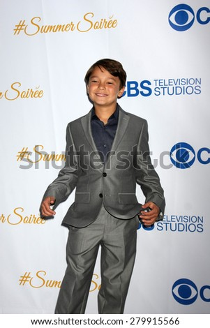 LOS ANGELES - MAY 18:  Pierce Gagnon at the CBS Summer Soiree 2015 at the London Hotel on May 18, 2015 in West Hollywood, CA
