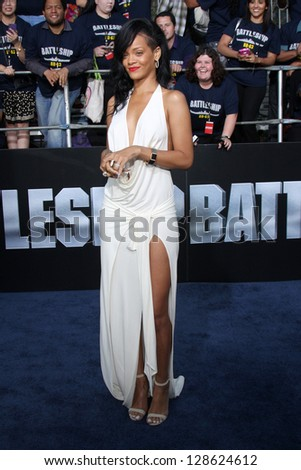 "LOS ANGELES - MAY 10:  Rihanna arrives at the ""Battleship"" LA Premiere at Nokia Theater LA Live on May 10, 2012 in Los Angeles, CA"
