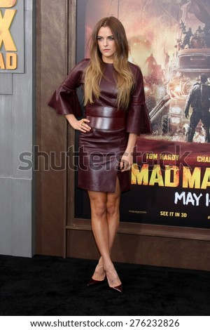 LOS ANGELES - MAY 7:  Riley Keough at the Mad Max: Fury Road Los Angeles Premiere at the TCL Chinese Theater IMAX on May 7, 2015 in Los Angeles, CA - stock photo