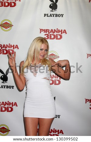 """LOS ANGELES - MAY 29:  Riley Steele arrives at the """"Piranha 3DD"""" Premiere at Mann Chinese 6 Theaters on May 29, 2012 in Los Angeles, CA - stock photo"""
