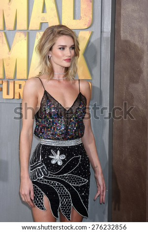 LOS ANGELES - MAY 7:  Rosie Huntington-Whiteley at the Mad Max: Fury Road Los Angeles Premiere at the TCL Chinese Theater IMAX on May 7, 2015 in Los Angeles, CA - stock photo