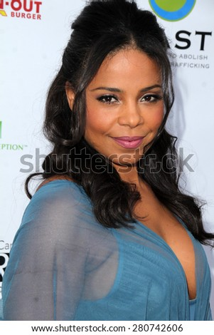 LOS ANGELES - MAY 21:  Sanaa Lathan at the 17th From Slavery to Freedom Gala at the Skirball Center on May 21, 2015 in Los Angeles, CA - stock photo
