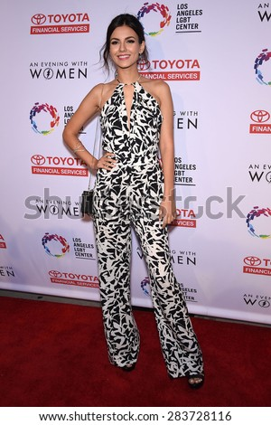 LOS ANGELES - MAY 16:  Victoria Justice arrives to the An Evening With Women  on May 16, 2015 in Hollywood, CA                 - stock photo