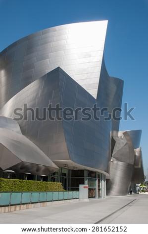 LOS ANGELES -May 10: Walt Disney Concert Hall in Los Angeles, CA. May 10 2015 - stock photo