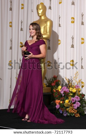 LOS ANGELES -  27:  Natalie Portman in the Press Room at the 83rd Academy Awards at Kodak Theater, Hollywood & Highland on February 27, 2011 in Los Angeles, CA - stock photo