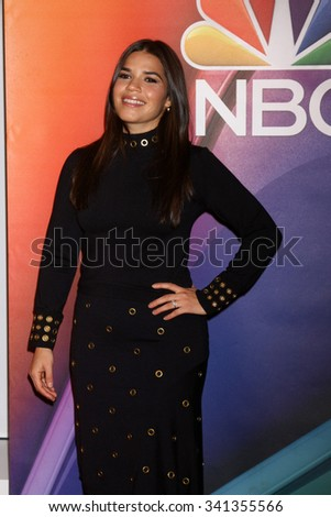 "LOS ANGELES - NOV 17:  America Ferrera at the Press Junket For NBC's ""Telenovela"" And ""Superstore"" at the Universal Studios on November 17, 2015 in Los Angeles, CA"