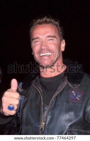 "LOS ANGELES - NOV 13:  Arnold Schwarzenegger arriving at the ""6th Day"" Premiere at National Theater on Nov 13, 2000 in Westwood, CA - stock photo"