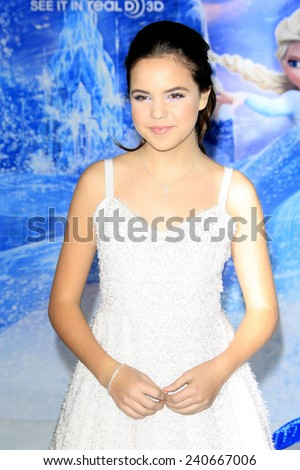LOS ANGELES - NOV 19: Bailee Madison at the premiere of Walt Disney Animation Studios' 'Frozen' at the El Capitan Theater on November 19, 2013 in Los Angeles, CA - stock photo