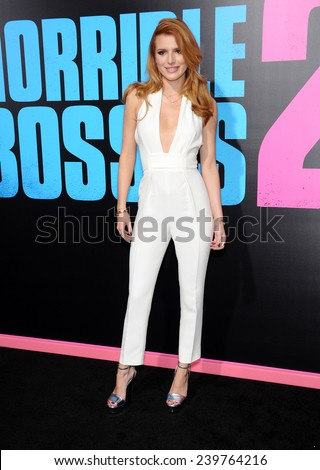 """LOS ANGELES - NOV 20:  Bella Thorne arrives to the """"Horrible Bosses 2"""" Los Angeles Premiere on November 20, 2014 in Hollywood, CA                 - stock photo"""