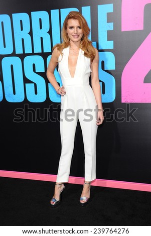 "LOS ANGELES - NOV 20:  Bella Thorne arrives to the ""Horrible Bosses 2"" Los Angeles Premiere on November 20, 2014 in Hollywood, CA                 - stock photo"