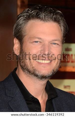 "LOS ANGELES - NOV 30:  Blake Shelton at the ""The Ridiculous 6"" Los Angeles Premiere at the AMC Universal City Walk on November 30, 2015 in Los Angeles, CA"