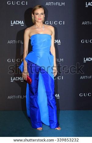 LOS ANGELES - NOV 7:  Diane Kruger at the LACMA Art + Film Gala at the  LACMA on November 7, 2015 in Los Angeles, CA - stock photo