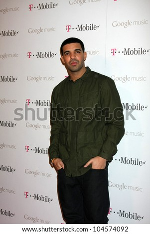 LOS ANGELES - NOV 16:  Drake arrives at the Google Music Launch at Mr. Brainwash Studio on November 16, 2011 in Los Angeles, CA