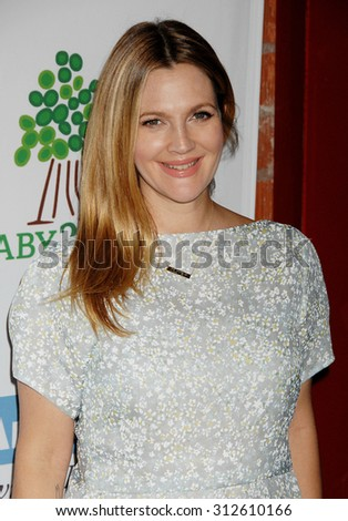 LOS ANGELES - NOV 9:  Drew Barrymore arrives at the 2nd Annual Baby2Baby Gala  on November 9, 2013 in Culver City, CA                 - stock photo