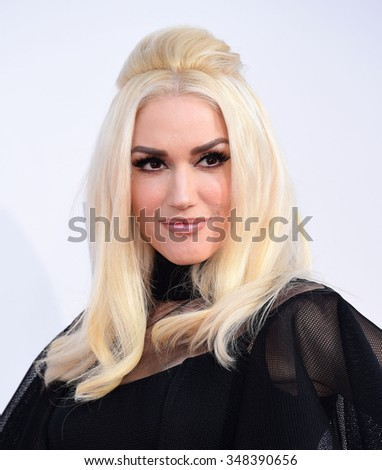 LOS ANGELES - NOV 22:  Gwen Stefani arrives to the American Music Awards 2015  on November 22, 2015 in Los Angeles, CA.                 - stock photo