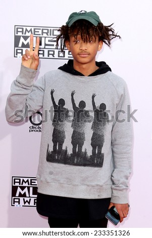 LOS ANGELES - NOV 23:  Jaden Smith at the 2014 American Music Awards - Arrivals at the Nokia Theater on November 23, 2014 in Los Angeles, CA - stock photo