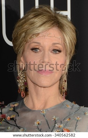 """LOS ANGELES - NOV 17:  Jane Fonda at the """"Youth"""" LA Premiere at the Directors Guild of America Theater on November 17, 2015 in Los Angeles, CA - stock photo"""