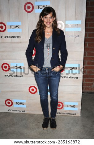 LOS ANGELES - NOV 12:  Jennifer Garner arrives to the TOMS for Target Partnership Celebration on November 12, 2014 in Culver City, CA                 - stock photo
