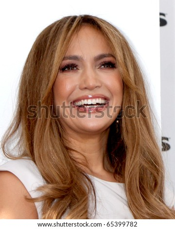 LOS ANGELES - NOV 18:  Jennifer Lopez at the press conference for Jennifer Lopez & Marc Anthony / KOHL'S Lifestyle Brand Launch at The London Hollywood on November 18, 2010 in W. Hollywood, CA - stock photo