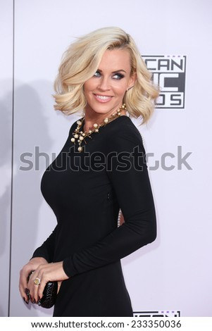 LOS ANGELES - NOV 23:  Jenny McCarthy at the 2014 American Music Awards - Arrivals at the Nokia Theater on November 23, 2014 in Los Angeles, CA - stock photo