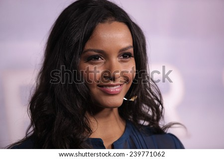 "LOS ANGELES - NOV 22:  JESSICA LUCAS arrives to the ""Super 8"" DVD Launch  on November 22, 2011 in Beverly Hills, CA                 - stock photo"