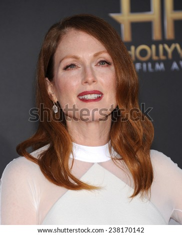 LOS ANGELES - NOV 14:  Julianne Moore arrives to the The Hollywood Film Awards 2014 on November 14, 2014 in Hollywood, CA                 - stock photo