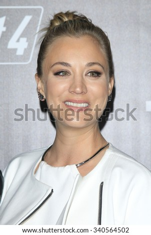 LOS ANGELES - NOV 05:  Kaley Cuoco at the Fallout 4 video game launch  at the downtown on November 05, 2015 in Los Angeles, CA - stock photo