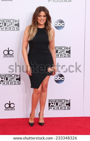 LOS ANGELES - NOV 23:  Khloe Kardashian at the 2014 American Music Awards - Arrivals at the Nokia Theater on November 23, 2014 in Los Angeles, CA - stock photo