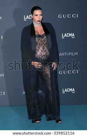 LOS ANGELES - NOV 7:  Kim Kardashian at the LACMA Art + Film Gala at the  LACMA on November 7, 2015 in Los Angeles, CA - stock photo