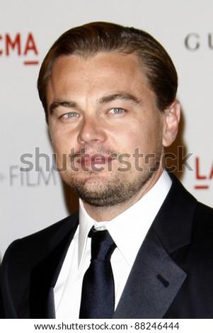 LOS ANGELES - NOV 5:  Leonardo DiCaprio arrives at the LACMA Art + Film Gala at LA County Museum of Art on November 5, 2011 in Los Angeles, CA - stock photo