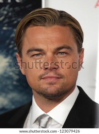 "LOS ANGELES - NOV 03:  Leonardo DiCaprio arriving to ""J. Edgar"" Los Angeles Premiere  on November 03, 2011 in Hollywood, CA - stock photo"