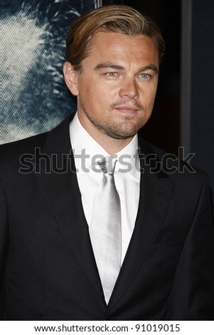 LOS ANGELES - NOV 3: Leonardo DiCaprio at the AFI Fest 2011 Opening Night Gala World Premiere of 'J. Edgar' at Grauman's Chinese Theater on November 3, 2011 in Los Angeles, California - stock photo