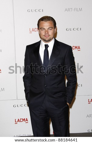LOS ANGELES - NOV 5: Leonardo DiCaprio at the LACMA Art + Film Gala on November 5, 2011 in Los Angeles, California - stock photo