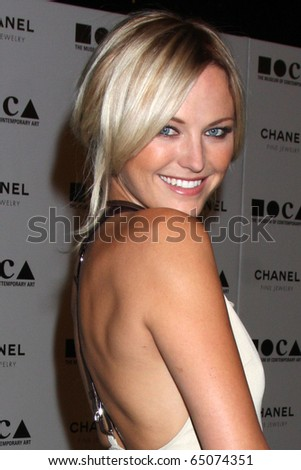 """LOS ANGELES - NOV 13:  Malin Akerman arrives at the MOCA's Annual Gala """"The Artist's Museum Happening"""" 2010 at Museum of Contemporary Art on November 13, 2010 in Los Angeles, CA - stock photo"""