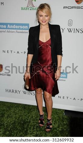 LOS ANGELES - NOV 9:  Malin Akerman arrives at the 2nd Annual Baby2Baby Gala  on November 9, 2013 in Culver City, CA                 - stock photo