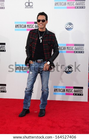 LOS ANGELES - NOV 24:  Marc Anthony at the 2013 American Music Awards Arrivals at Nokia Theater on November 24, 2013 in Los Angeles, CA