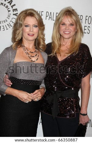 LOS ANGELES - NOV 30:  Mary Hart, Linda Bell Blue arrive at the Paley Center for Media Annual Los Angeles Gala at Beverly Wilshire Hotel on November 30, 2010 in Beverly Hills, CA